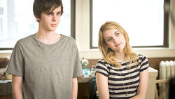 Rich kids: Freddie Highmore and Emma Roberts in The Art of Getting By.
