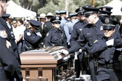 Officer Dave Uribe was laid to rest last May 18.