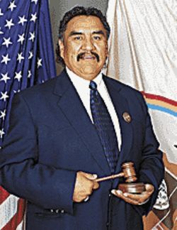 Navajo Speaker of the House Lawrence Morgan