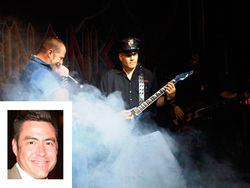 Left: Ex-Phoenix cop George Contreras (here performing with his band Blue Steel) was implicated in an off-duty security scandal that also was about to ensnare Sean Drenth. Inset: Investigators failed to ask Lieutenant Chris Moore, one of Drenth&#039;s best friends in the department, several critical questions.