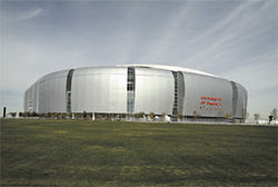 The $455 million University of Phoenix Stadium.