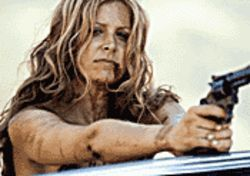 A grave undertaking: Sheri Moon Zombie is on the run in The Devil's Rejects.