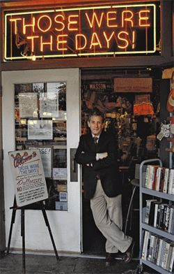 Vick Linhoff, owner of Those Were the Days!, has kept his shop open for 33 years on Mill Avenue.
