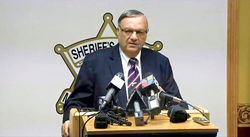 Arpaio thanks the feds for their election-season wet kiss: The end of the criminal probe into his office.