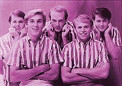 . . . and as he appeared in happier times with the Beach Boys, who would ultimately betray their leader's legacy.