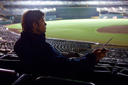 Beane ball: Brad Pitt tries to build a winner in Moneyball.