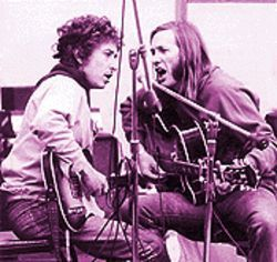 Wallflowers, wallflowers: Bob Dylan and Sahm during the latter's early '70s Atlantic Records sessions.