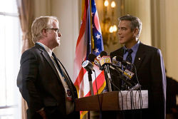 Philip Seymour Hoffman and George Clooney star in The Ides of March.