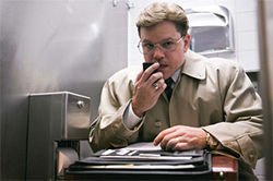 The long con: Matt Damon blows a whistle in Steven Soderbergh's The Informant!