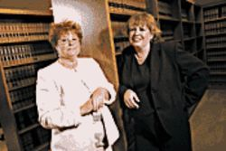 EEOC lawyers Sandra Padegimas (left) and Mary Jo O'Neill say Serrano's was legally required to let Naeve teach her employees in a Bible study.