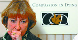 Barbara Lee, the president of right-to-die group Compassion and Choices, says &quot;theres an enormous amount of harm being done out there.&quot;