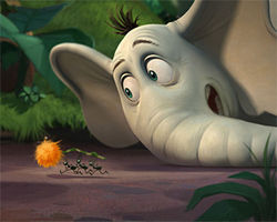 "Horton the ""warrior poet"": Jim Carrey tones it down as the titular elephant in Horton Hears a Who!"