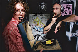 Dorkwad DJs Catherine Vericolli and Ryan Champagne bring wax and wackiness to the Palo Verde Lounge.