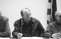 Richard Holm attends a March 2003 Colorado City council meeting.