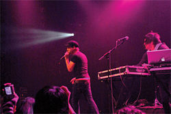 The Medic Droid performs at the Blender Theatre at Gramercy in New York on Thanksgiving eve.