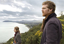 Groovy and soulful: The Frames' Glen Hansard, right, makes beautiful music with Marketa Irglova in Once.