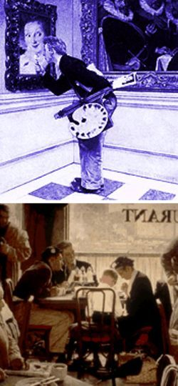 (above) Rockwell's  The Art Critic. (below) Saying Grace, 1951. Oil on canvas. Ken and Katherine Stuart Collection.