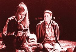 Chloë Sevigny (left) and Hilary Swank in Boys Don't Cry.