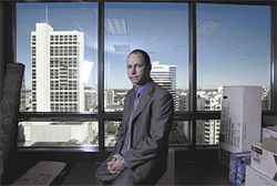 "Fort Lauderdale attorney Christopher Sharp says Magedson is running an ""extortion scheme."""