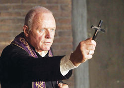 Cross to bear: Anthony Hopkins stars as Father Lucas in The Rite.