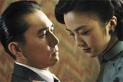 Just lust: Tang Wei and Tony Leung try, but fail, to steam it up in Lust, Caution.