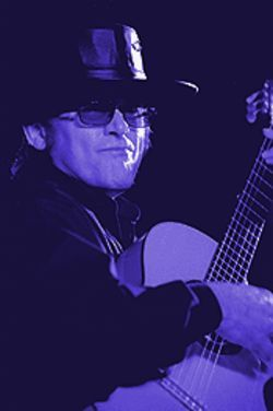 Latin lite: Esteban, in full Zorro regalia, does his flamenco flourishes at the Arizona Biltmore.