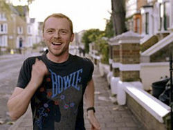 The thin man: Simon Pegg is an honorary heavyweight in Run Fat Boy Run.