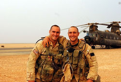 American hero Pat Tillman (left)