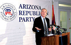 Randy Pullen, chairman of the state Republican Party