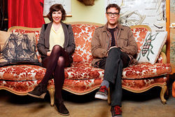 Carrie Brownstein and Fred Armisen parody hipster culture on Portlandia.