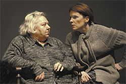Sharon Collar (left) and Robyn Allen were superb in Algonquin Theater's production of The Beauty Queen of Leenane.
