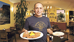 Sabuddy, can you spare a schnitzel? Daniel Livni in his Scottsdale restaurant.