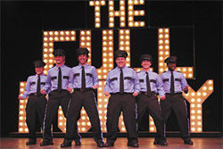 Cop rock: The Full Monty is now showing at Broadway Palm Dinner Theatre.