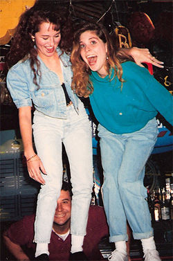 Allison DuBois (left) and her late friend Domini Sitts, at a bar.