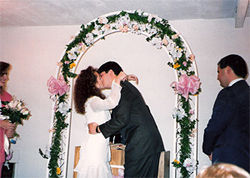 Allison and Joe DuBois on their wedding day.