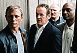 London confidential: From left, Daniel Craig, Colm Meaney and George Harris ride the plot twists and turns of Layer Cake.