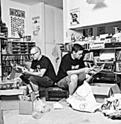 Punk rats: Todd Taylor (right) and friends share the best in punk literature.