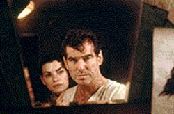 Remington zeal: Julianna Margulies and Pierce Brosnan in Evelyn.