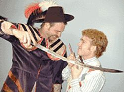 T. John Weltzien as Alan Swann and Philip Groft as  Benjy Stone in My Favorite Year.