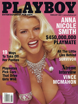 Anna NicoleÂ's February 2001 Playboy cover, published around the time Marshall was conceived.