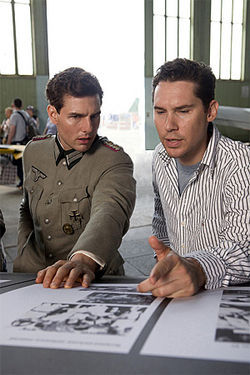 Finishing each other's sentences: The star and the director plot out their scheme to kill Hitler and make a hit.