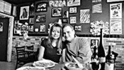 "Meatball mavens: Carolyn and Anthony Redendo want you to mangia in their New York ""pizza paula."""