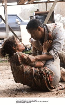 Time is on their side: Paula Patton and Denzel Washington try to change the past in Dj Vu.