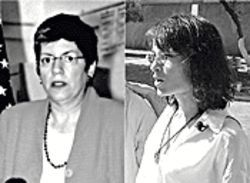 Lack of action by Governor Janet Napolitano (left) invites trouble from unethical activists like Flora Jessop (right).
