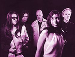 Aenima's of the state: Keenan (far left), in wig, and Howerdel (center) lead A Perfect Circle.