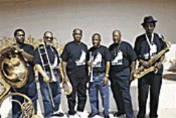 Crescent City crew: The Treme Brass Band reunited in the Valley of the Sun.