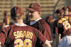 Coach Murphy keeps in close contact with his players.