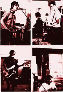 Last chance gasp: The Piersons, clockwise from top left, Patrick Sedillo, Jimmy Campisano, Tony Chadwick and Scott Moore.