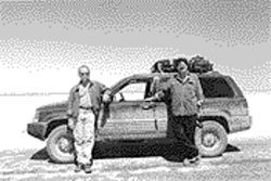 Jerry Stricklin, left, and Earl Doliber are the sort of travelers who shun the beaten path and seek the undisturbed outback.