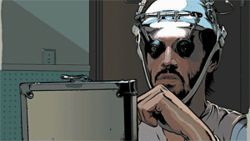"An actor, technically: Keanu Reeves ""plays"" Bob Arctor in A Scanner Darkly."